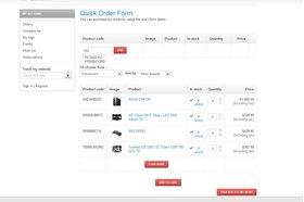 quick order demo